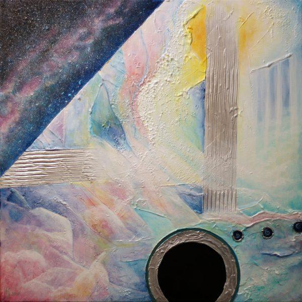 KJ's Art Studio | Original Fine Art by Christian American Artist, KJ Burk - Blackhole Utpoia