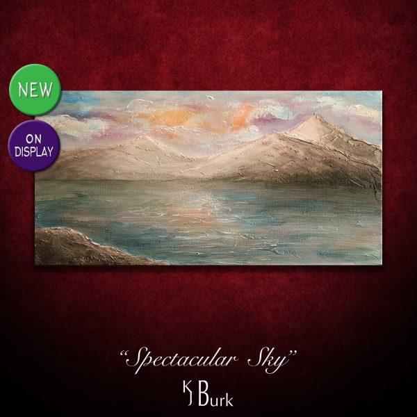 KJ's Art Studio | Original Fine Art by Christian American Artist, KJ Burk - Spectacular Sky