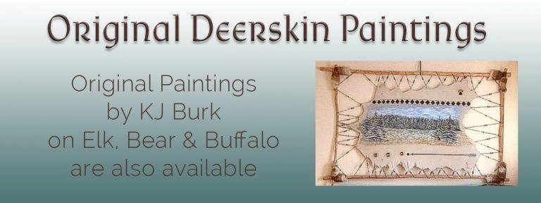 KJ's Art Studio | Original Fine Art by Christian American Artist, KJ Burk | SLIDE - Deerskin Paintings