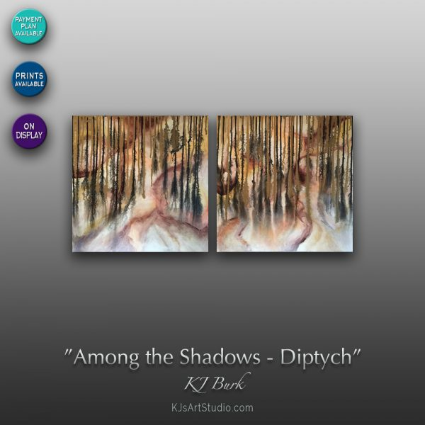 KJ's Art Studio | Original Fine Art by Christian American Artist, KJ Burk - Among the Shadows - Diptych