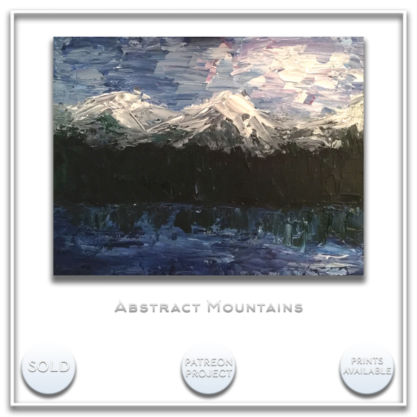 KJ's Art Studio | Original Fine Art by Christian American Artist, KJ Burk - Abstract Mountains