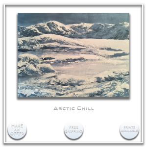 KJ's Art Studio | Original Fine Art by Christian American Artist, KJ Burk - Arctic Chill
