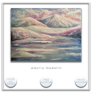 KJsArtStudio.com | ARCTIC WARMTH ~ Original Landscape Painting by KJ Burk