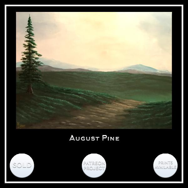 KJsArtStudio.com | AUGUST PINE ~ Original Landscape Painting by KJ Burk