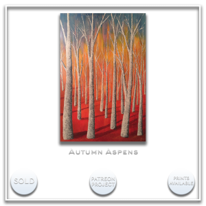KJ's Art Studio | Original Fine Art by Christian American Artist, KJ Burk - Autumn Aspens
