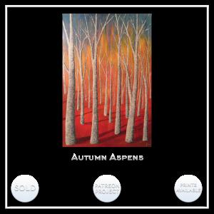 KJ's Art Studio   Original Fine Art by Christian American Artist, KJ Burk - Autumn Aspens