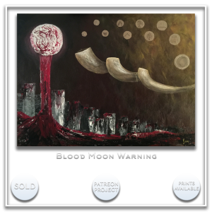KJ's Art Studio | Original Fine Art by Christian American Artist, KJ Burk - Blood Moon Warning