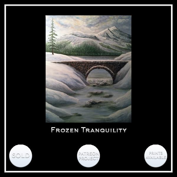 KJ's Art Studio | Original Fine Art by Christian American Artist, KJ Burk - Frozen Tranquility