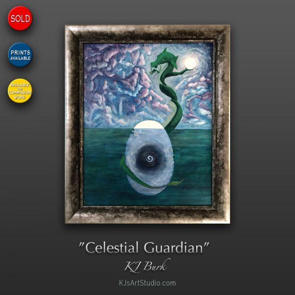 KJ's Art Studio | Original Fine Art by Christian American Artist, KJ Burk - Celestial Garden