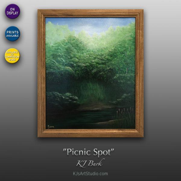 KJ's Art Studio | Original Fine Art by Christian American Artist, KJ Burk - Picnic Spot