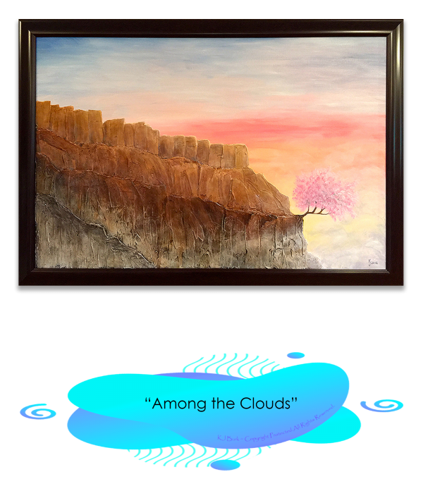 KJ's Art Studio | Original Fine Art by Christian American Artist, KJ Burk - Among the Clouds