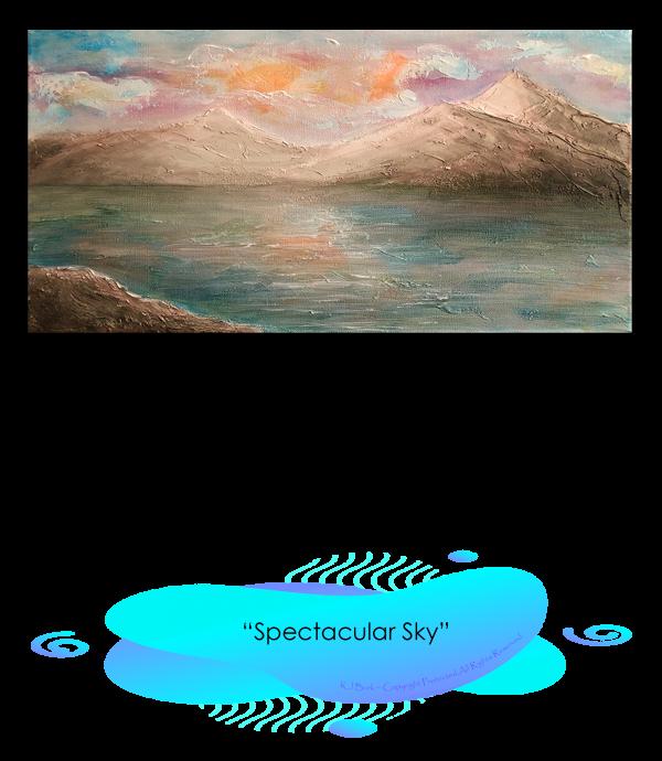 KJsArtStudio.com | SPECTACULAR SKY ~ Original Landscape Painting by KJ Burk