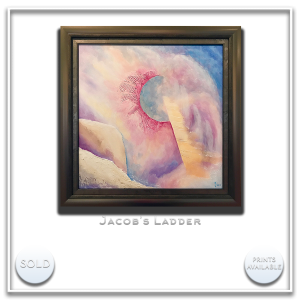 KJ's Art Studio | Original Fine Art by Christian American Artist, KJ Burk - Jacob's Ladder