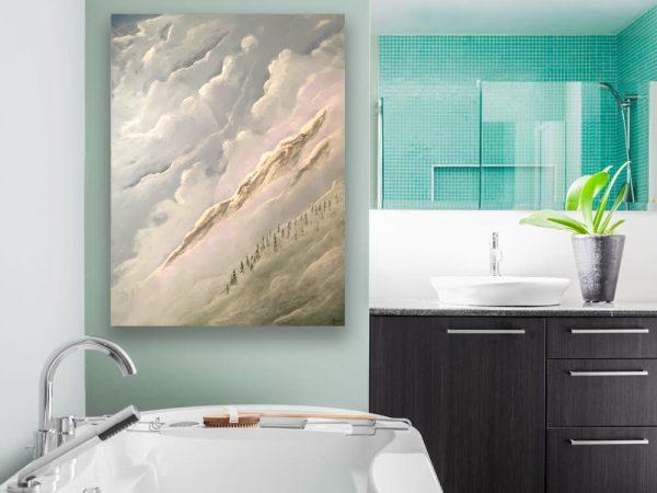 KJ's Art Studio | Original Fine Art by Christian American Artist, KJ Burk - Hallelujah Mountain